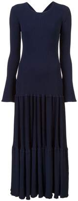 Carolina Herrera pleated knit dress