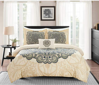 Chic Home Mindy 6 Piece Twin Bed In a Bag Duvet Set Bedding
