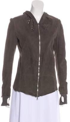 Isaac Sellam Leather Hooded Jacket