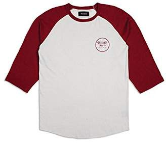 Brixton Men's Wheeler Tailored Fit 3/4 Sleeve Baseball Tee