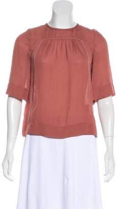 Isabel Marant Silk Embellished Top