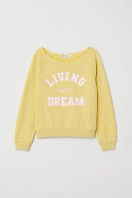H&M Sweatshirt with Printed Design - Yellow