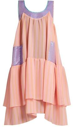 Natasha Zinko Scoop Neck Sleeveless Textured Jacquard Dress - Womens - Light Pink