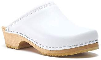 World of Clogs.com Toffeln Classic Klog 020 Traditional Padded Antistatic Wooden Clogs - 6.5