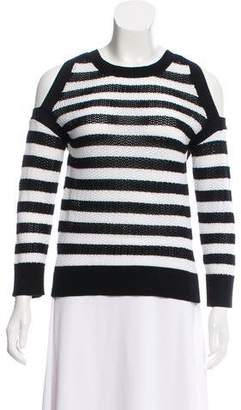 Rag & Bone Stripe Cold-Shoulder Top