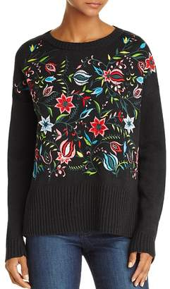 AQUA Embroidered Sweater - 100% Exclusive $88 thestylecure.com
