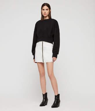 AllSaints Storn Cropped Sweatshirt