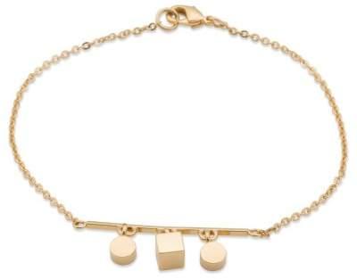 Styleserver DE Sabrina Dehoff Armband Dangeling Tubes and Cubes vergoldet
