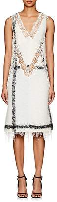 Calvin Klein Women's Embellished Mohair-Blend Bouclé Dress