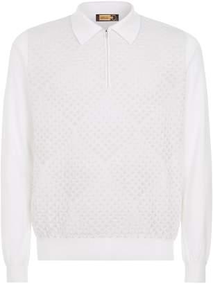 Zilli Diamond Weave Polo Shirt