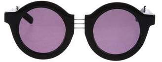 House of Holland On the Wire Round Sunglasses