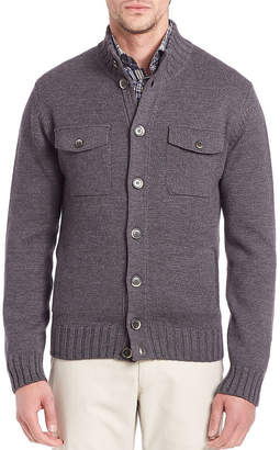 Saks Fifth Avenue Stand Collar Wool Sweater