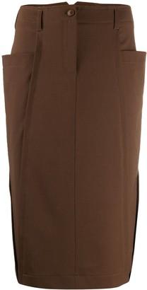 Alberta Ferretti patch pocket pencil skirt
