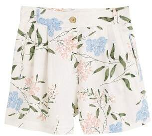 MANGO Cotton striped shorts