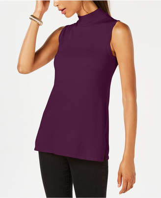 JM Collection Sleeveless Mock-Turtleneck Sweater