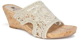 White Mountain Amherst Cork Wedge Sandal