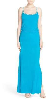 Fraiche by J Crochet Trim Maxi Dress