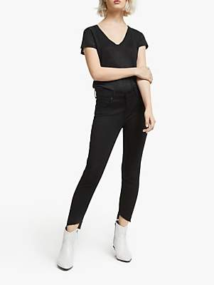 AND/OR Avalon Let Down Hem Jeans, Stay Black