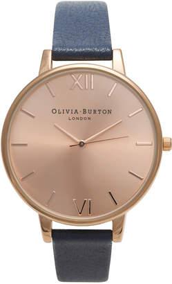Olivia Burton Big Dial Navy & Rose Gold Watch