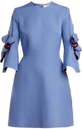 Roksanda Harlin bow-sleeve bonded crepe mini dress