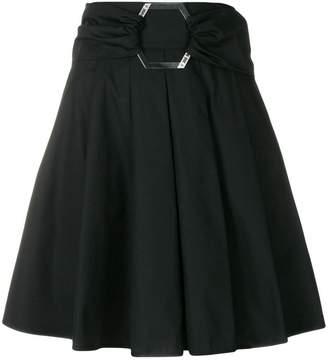 Philipp Plein belted pleated skirt