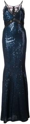 Zac Posen Leila sequinned gown