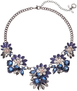 Vera Wang Simply Vera Blue Flower Statement Necklace