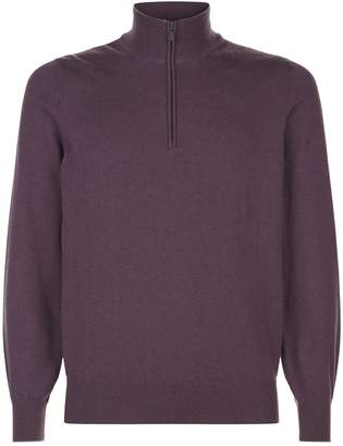 Brunello Cucinelli Cashmere Half Zip Sweater