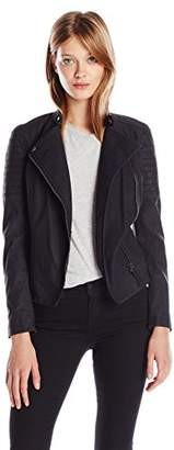 Calvin Klein Jeans Women's Elephant Skin Faux Leather Biker Jacket $84.17 thestylecure.com