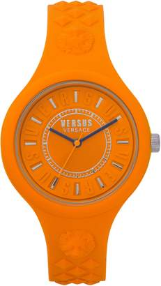 Versace Fire Island Silicone Strap Watch, 39mm