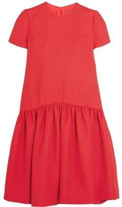 Alexander McQueen Drop-Waist Wool-Blend Scuba Dress