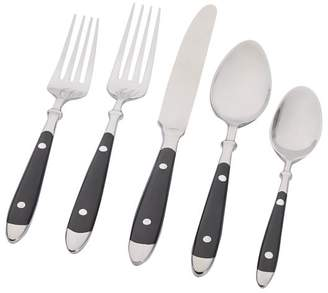 Pottery Barn Cafe Flatware 5-Piece Set, Black