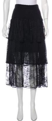 LoveShackFancy Lace & Polka Dot Midi Skirt w/ Tags