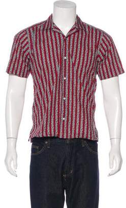 Gitman Brothers Printed Striped Woven Shirt w/ Tags