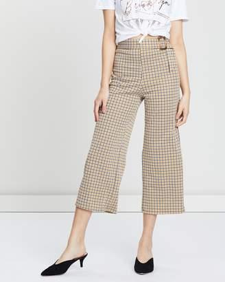 Miss Selfridge Belted Crop Wide Leg Trousers