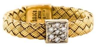 Roberto Coin Woven Diamond Band