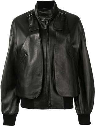Bottega Veneta band collar jacket