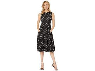 Calvin Klein Polka Dot Fit Flare Dress CD8C22JY