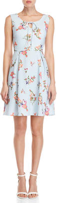 Yumi French Floral Stripe Dress