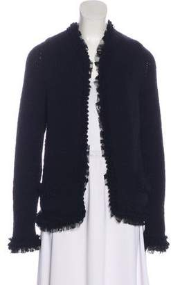 Chanel Cashmere Open Front Cardigan