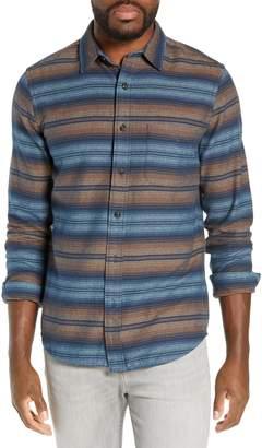 Faherty Seaview Regular Fit Stripe Flannel Shirt