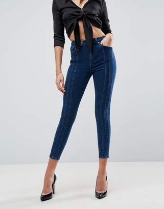 Asos Design RIDLEY HIGH WAIST Skinny Jean With Triple Seams