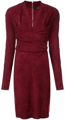 Jitrois long-sleeve fitted dress