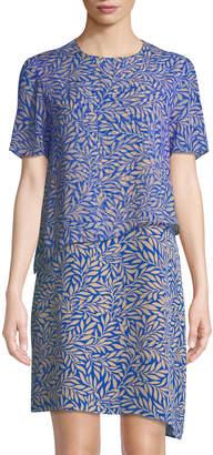 Diane von Furstenberg Two-Tiered Silk Palm Dress
