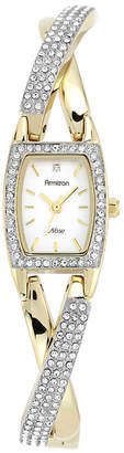 JCPenney Armitron Now Womens Two-Tone Crisscross Bangle Watch
