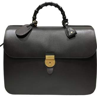 Gucci Bamboo leather 48h bag