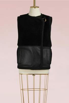 Chloé Sleeveless Shearling Coat