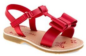 Laura Ashley Toddler Girls' Bow Slingback Sandals $30.99 thestylecure.com