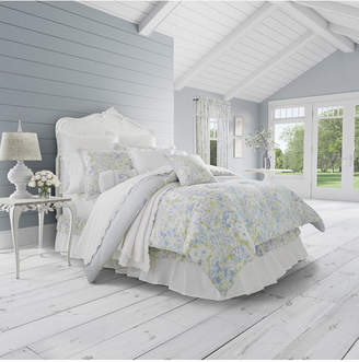 Piper & Wright Flower Bed Blue 4-Pc. King Comforter Set Bedding