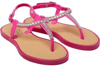 Board Angels Junior Girls Diamante Trim Sandals Pink